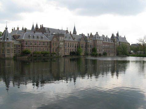 Hofvijver Pond and the Dutch Parliament in The Hague